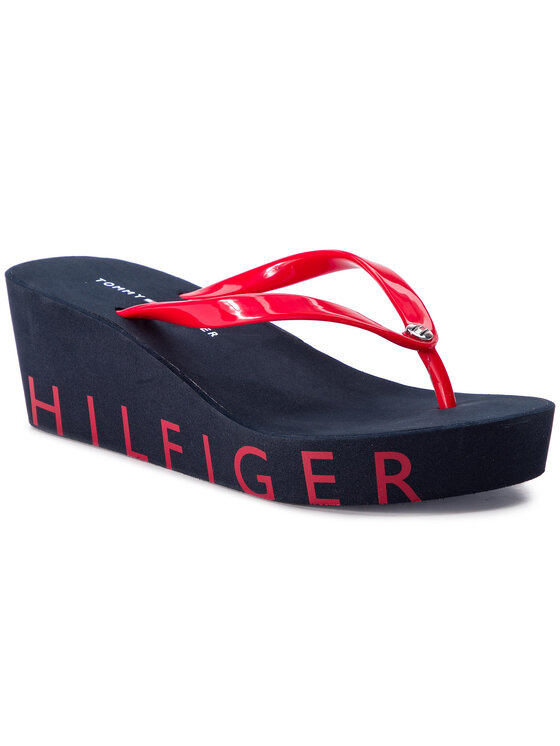 TOMMY HILFIGER TOMMY HILFIGER Infradito Wedge Beach Sandal FW0FW04057 Rosso