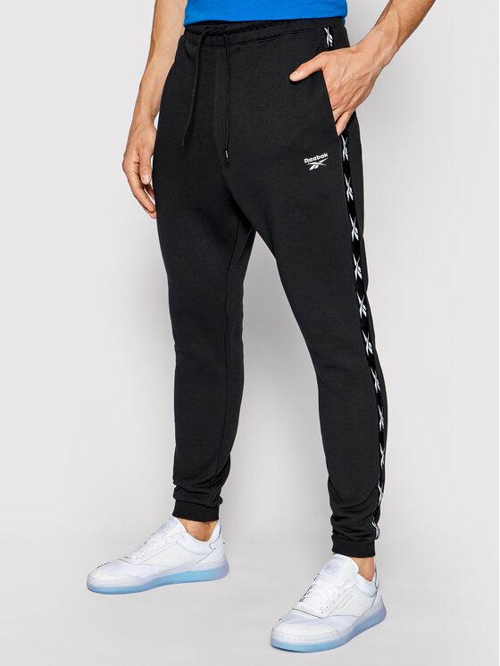 Reebok Reebok Spodnie dresowe Essentials Tape GQ4215 Czarny Regular Fit