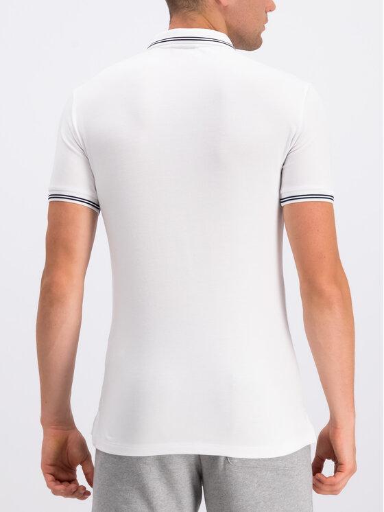 Emporio Armani Emporio Armani Тениска с яка и копчета 8N1F30 1JPTZ 0100 Бял Regular Fit