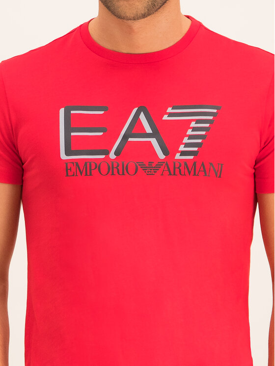 EA7 Emporio Armani EA7 Emporio Armani Tricou 3HPT81 PJM9Z 1451 Roșu Regular Fit