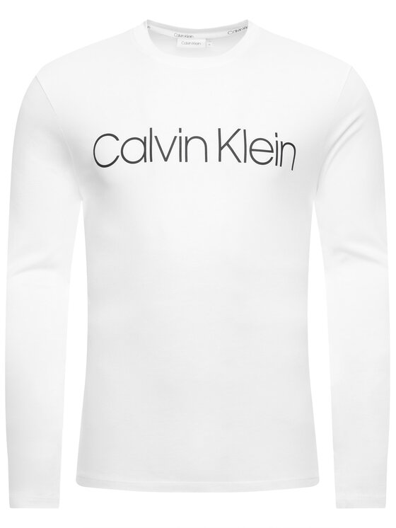 Calvin Klein Calvin Klein Marškinėliai ilgomis rankovėmis Logo K10K104690 Balta Regular Fit