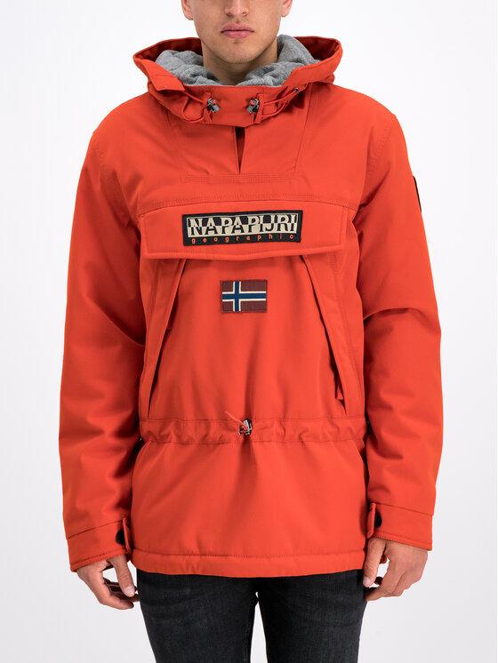 Napapijri Napapijri Anorak stiliaus striukė Skidoo N0YI4R Oranžinė Regular Fit