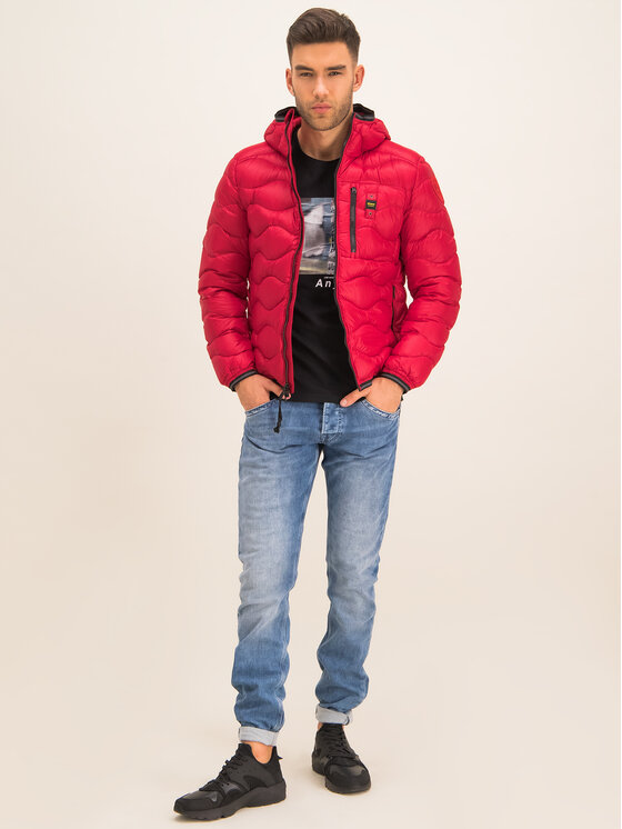 Blauer Blauer Kurtka puchowa Booth Wave Down 19WBLUC03056 004719 Czerwony Slim Fit
