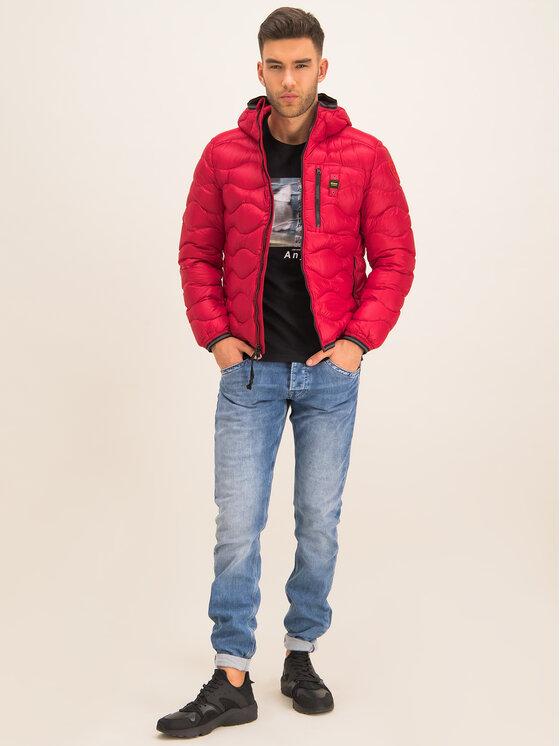 Blauer Blauer Μπουφάν πουπουλένιο Booth Wave Down 19WBLUC03056 004719 Κόκκινο Slim Fit
