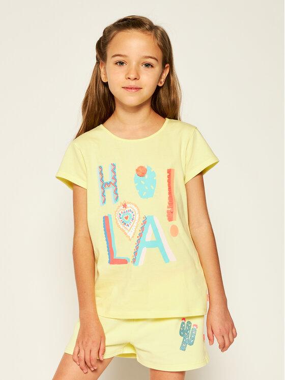 Billieblush Billieblush T-Shirt U15729 Żółty Regular Fit
