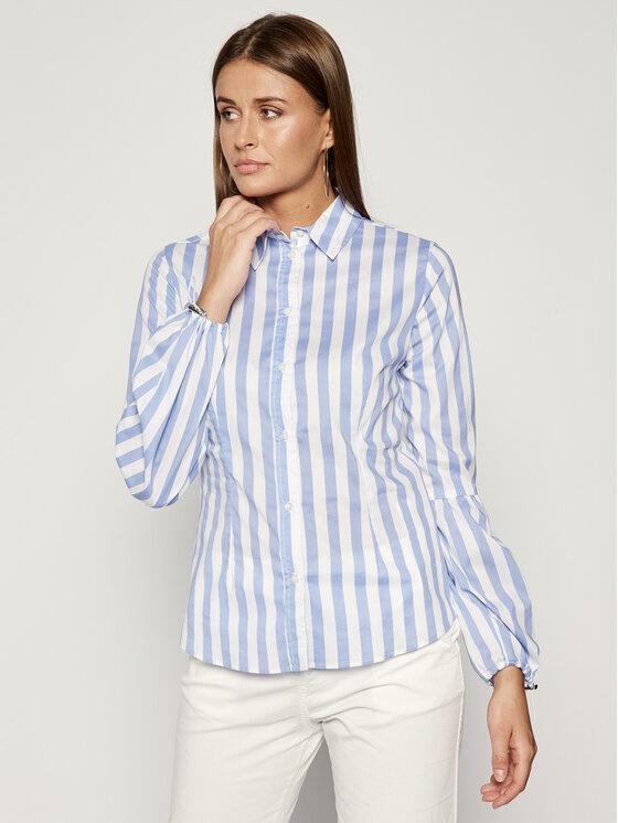 Trussardi Jeans Trussardi Jeans Ing Big Stripes Cotton 56C00189 Kék Slim Fit