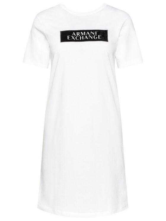Armani Exchange Armani Exchange Každodenní šaty 6HYA80 YJG3Z 8173 Bílá Regular Fit