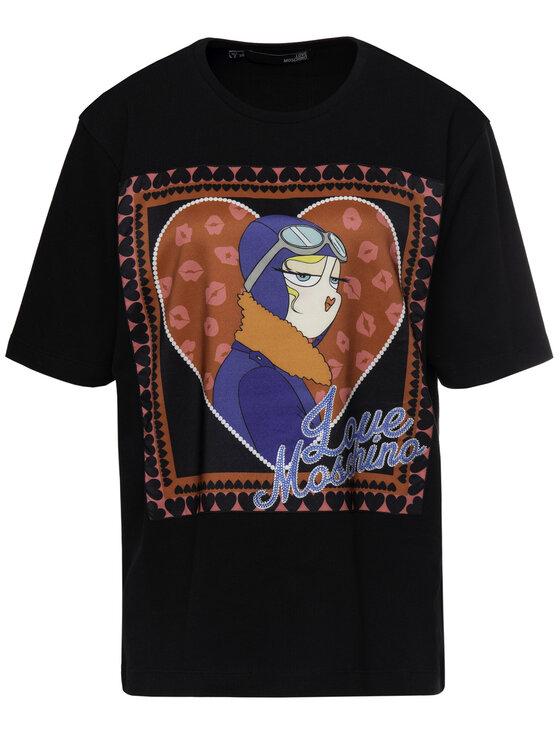 LOVE MOSCHINO LOVE MOSCHINO Marškinėliai W4F8720M 4071 Oversize