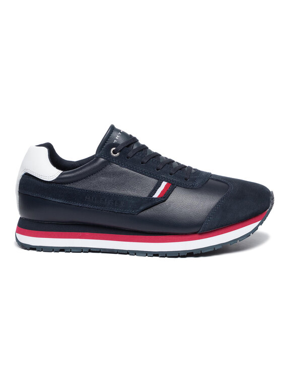 TOMMY HILFIGER TOMMY HILFIGER Sneakers Corporate Premium Leather Runner FM0FM02396 Blu scuro