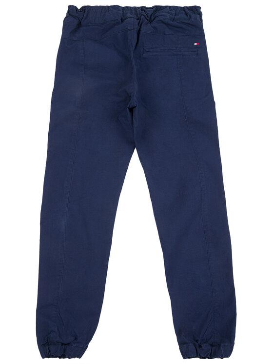 TOMMY HILFIGER TOMMY HILFIGER Παντελόνι υφασμάτινο Pleated KB0KB05052 D Σκούρο μπλε Regular Fit