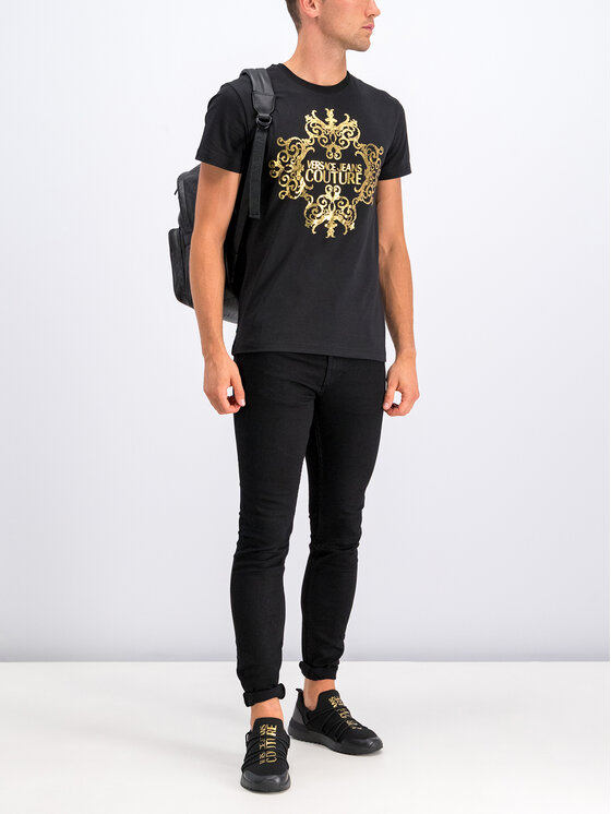 Versace Jeans Couture Versace Jeans Couture T-Shirt B3GUA7EA Czarny Slim Fit