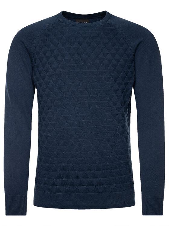 Guess Guess Пуловер U94R00 ZZ03B Тъмносин Regular Fit