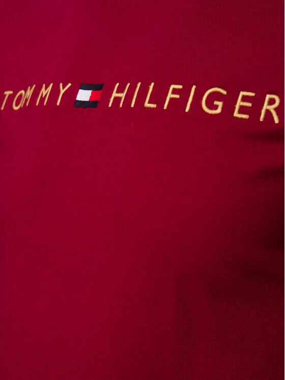 Tommy Hilfiger Tommy Hilfiger Тишърт Logo Gold UM0UM01679 Бордо Regular Fit