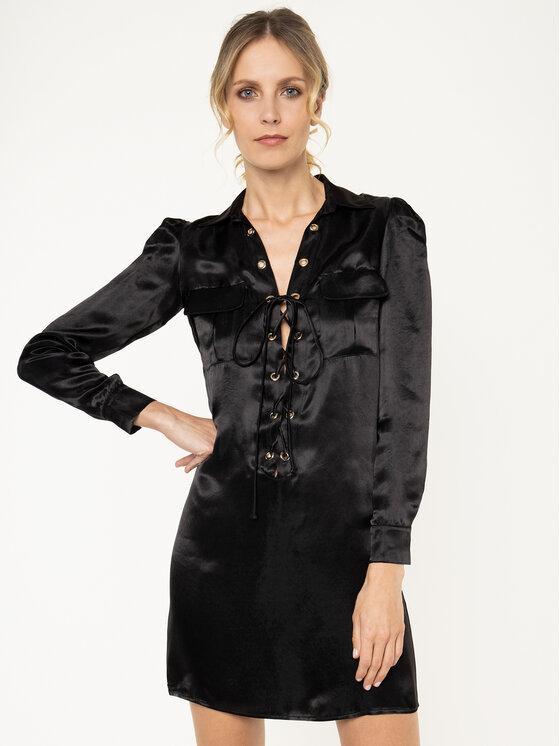 Manila Grace Marškinių tipo suknelė A149XU Juoda Regular Fit