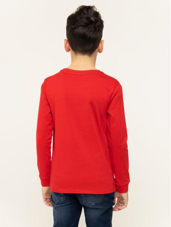 Guess Guess Bluza L93I16 K82E0 Czerwony Regular Fit