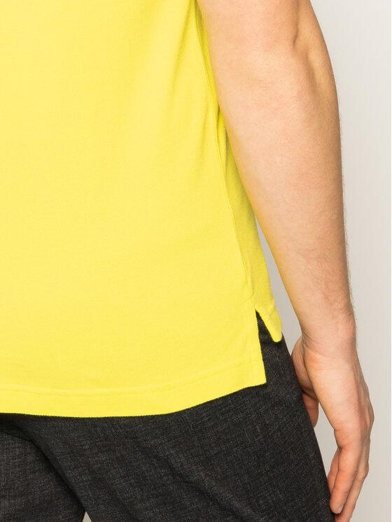 Tommy Hilfiger Tommy Hilfiger Тениска с яка и копчета Tipped MW0MW13080 Жълт Slim Fit