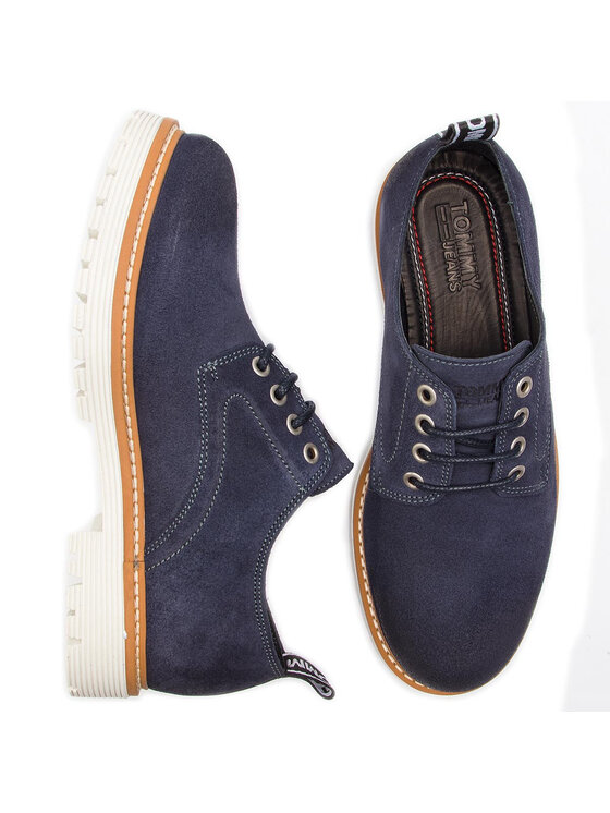Tommy Jeans Tommy Jeans Scarpe basse Icon Suede Shoe EM0EM00230 Blu scuro