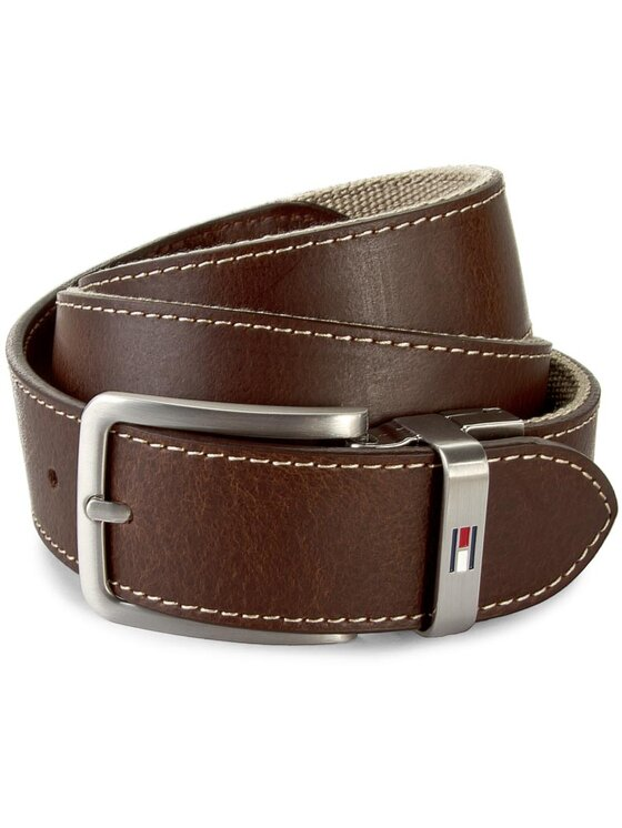 TOMMY HILFIGER TOMMY HILFIGER Мъжки колан Th Stripe Belt 3.5 Rev AM0AM00873 85