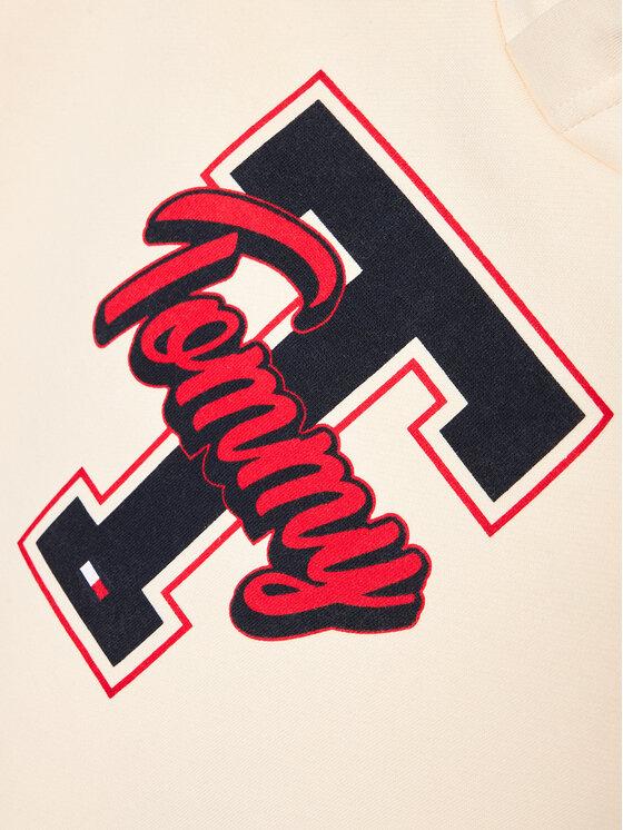 Tommy Hilfiger Tommy Hilfiger Bluza Varsity Graphic KB0KB06146 D Beżowy Regular Fit