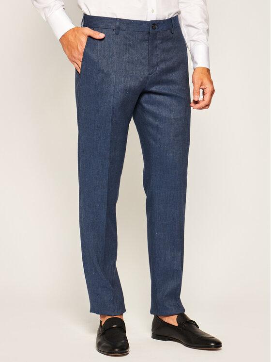 Tommy Hilfiger Tailored Medžiaginės kelnės Flex Fks TT0TT07303 Tamsiai mėlyna Slim Fit