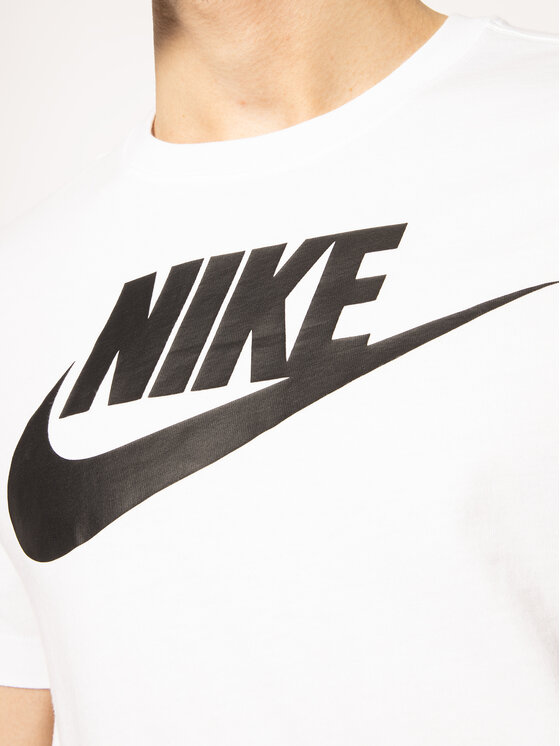 Nike Nike Tričko Icon Futura AR5004 Biela Regular Fit