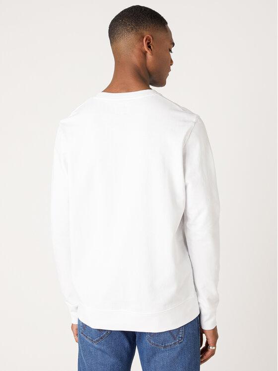 Wrangler Wrangler Μπλούζα Logo Crew W6C0HL989 Λευκό Regular Fit