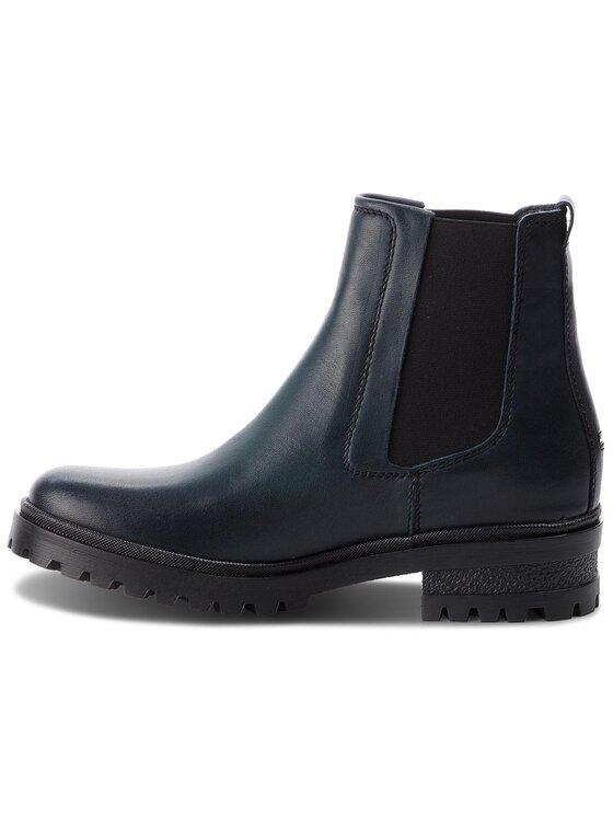 Tommy Jeans Tommy Jeans Členková obuv s elastickým prvkom Essential Cleated Ch EN0EN00242 Tmavomodrá