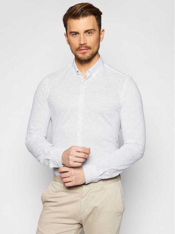 Pierre Cardin Marškiniai 3532/000/27461 Balta Slim Fit