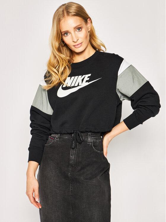 Nike Nike Sweatshirt Nsw Crew CJ2308 Schwarz Loose Fit