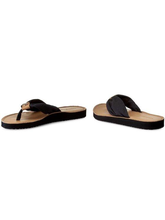 Tommy Hilfiger Tommy Hilfiger Σαγιονάρες Leather Footbed Beach Sandal FW0FW00475 Σκούρο μπλε