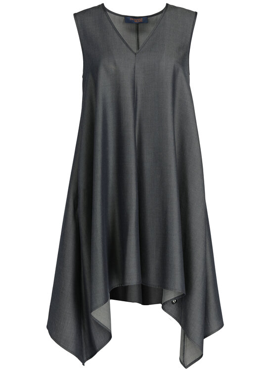 Trussardi Jeans Trussardi Jeans Koktejlové šaty 56D00239 Tmavomodrá Regular Fit