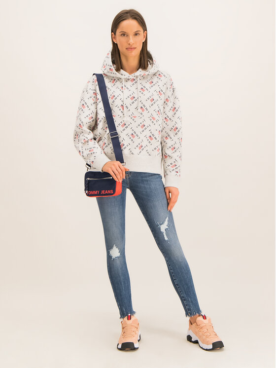 Tommy Jeans Tommy Jeans Bluza Allover DW0DW07415 Szary Regular Fit