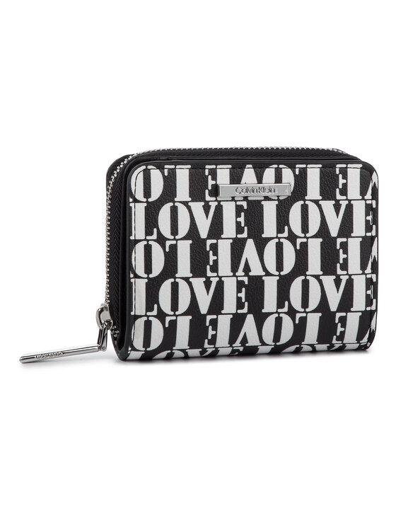 Calvin Klein Calvin Klein Mały Portfel Damski Extended Med Zip W/Flap Love K60K605501 Czarny