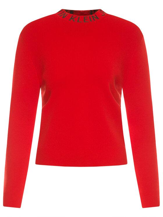 Calvin Klein Jeans Calvin Klein Jeans Rollkragenpullover J20J212958 Rot Regular Fit