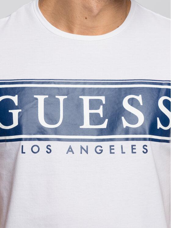 Guess Guess T-Shirt M93I49 K8HM0 Biały Slim Fit