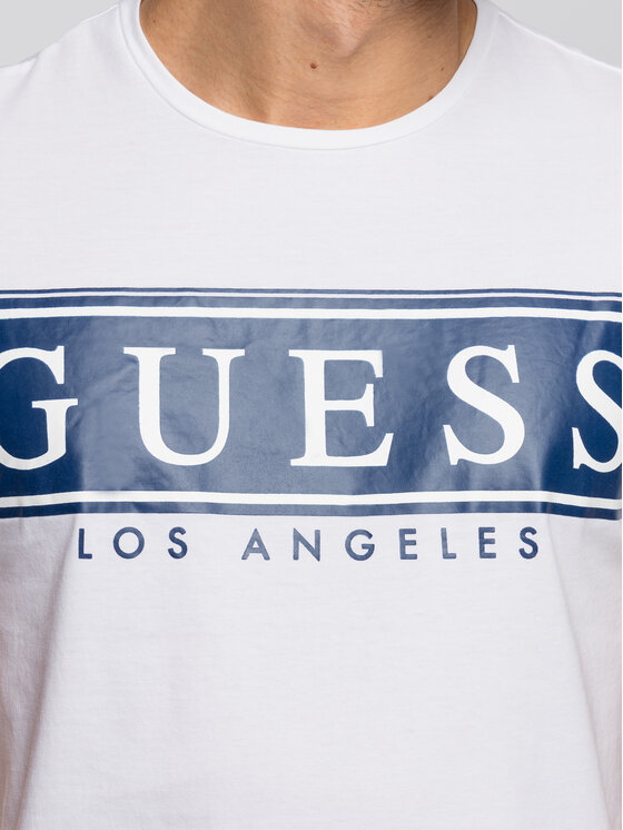 Guess Guess T-shirt M93I49 K8HM0 Blanc Slim Fit