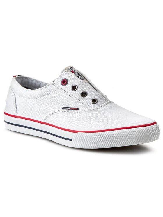 Tommy Hilfiger Tommy Hilfiger Πάνινα παπούτσια DENIM - Vic 2D - 1 EM56818632 Λευκό
