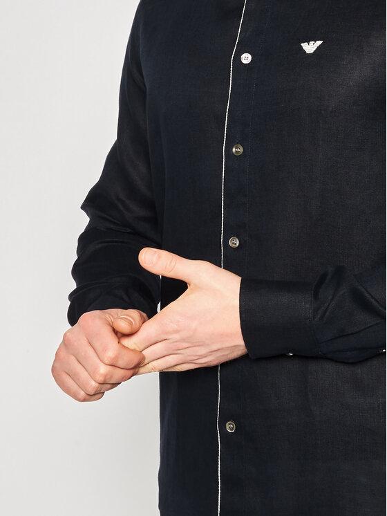 Emporio Armani Emporio Armani Camicia 3H1CP5 1NJIZ 0920 Blu scuro Regular Fit
