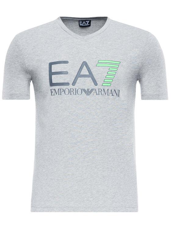 EA7 Emporio Armani EA7 Emporio Armani Tričko 3GPT02 PJ03Z 3905 Sivá Slim Fit