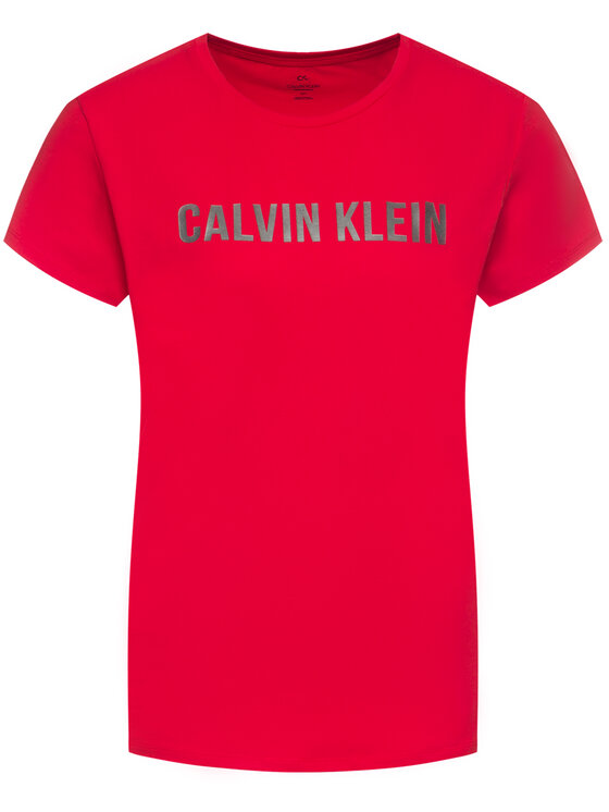 Calvin Klein Performance Calvin Klein Performance Tričko Tee Logo 00GWF8K139 Červená Relaxed Fit
