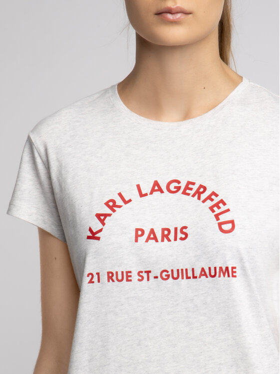KARL LAGERFELD KARL LAGERFELD T-Shirt 81KW1729 Šedá Regular Fit