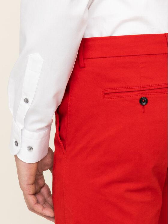 Tommy Hilfiger Tailored Tommy Hilfiger Tailored Kalhoty z materiálu Flex TT0TT06924 Červená Slim Fit