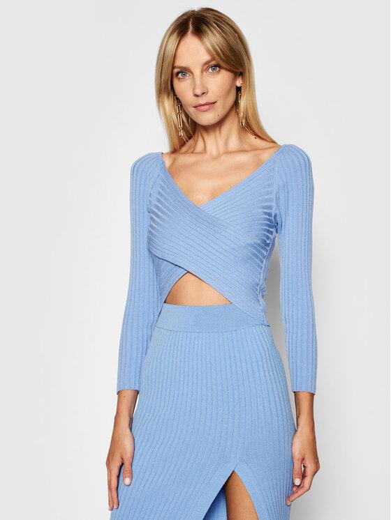 Kontatto Megztinis 3M7257 Mėlyna Slim Fit