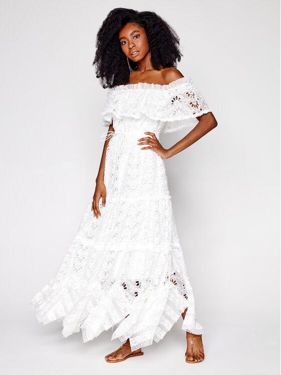 IXIAH Vasarinė suknelė IX22-80498 Balta Regular Fit
