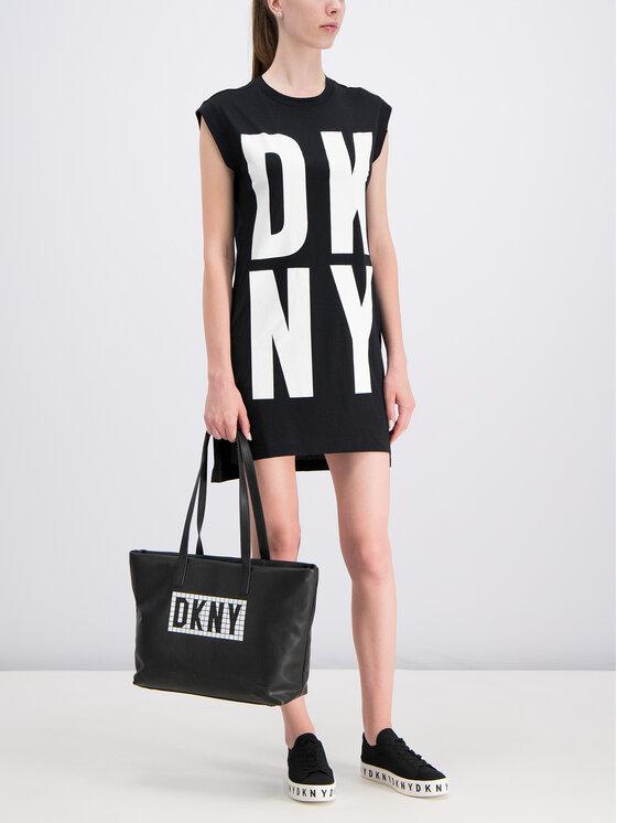 DKNY DKNY Každodenní šaty P9DHRB2M Černá Regular Fit