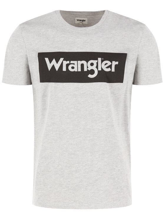 Wrangler Wrangler Marškinėliai Logo Tee W742FKX37 Pilka Regular Fit