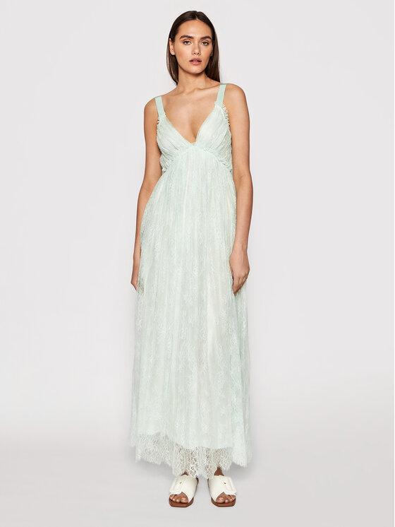 Ermanno Firenze Vasarinė suknelė AB34PIZ Žalia Regular Fit