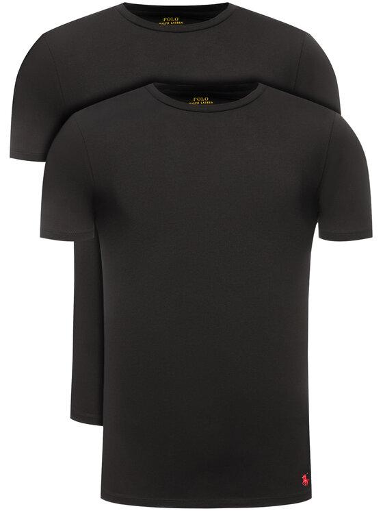 Polo Ralph Lauren 2 marškinėlių komplektas 714621944 Juoda Slim Fit