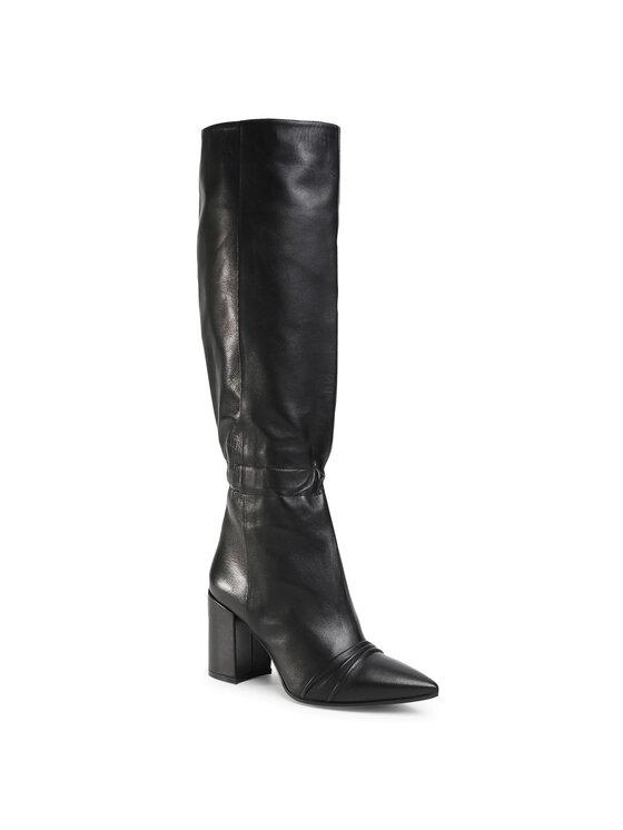 Zadig&Voltaire Ilgaauliai Glimmer Boots Silk Lambsk SJAF1703F Juoda