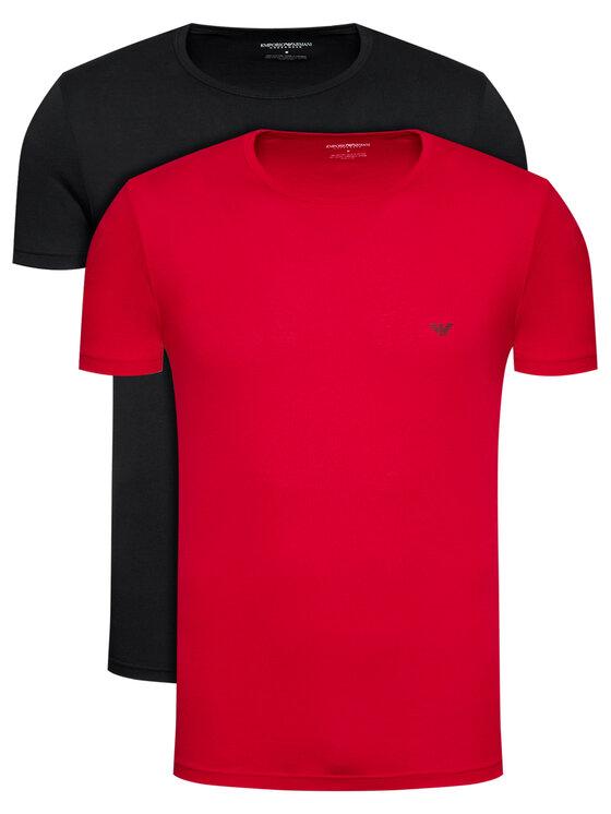 Emporio Armani Underwear 2 marškinėlių komplektas 111267 1P722 01621 Juoda Regular Fit